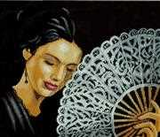 Lanarte Woman with a Fan Cross Stitch Kit