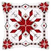 Vervaco Snow Crystal Cushion Christmas Cross Stitch Kit