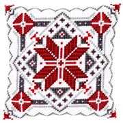 Vervaco Snowflake Cushion Christmas Cross Stitch Kit