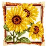 Vervaco Sunflowers Cushion Cross Stitch Kit
