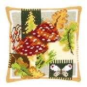 Toadstools Cushion - Vervaco Cross Stitch Kit