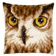 Owl in Close Up Cushion - Vervaco Cross Stitch Kit