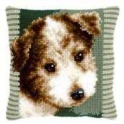 Terrier Puppy Cushion - Vervaco Cross Stitch Kit