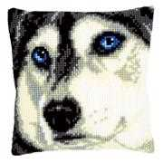 Vervaco Husky Cushion Cross Stitch Kit