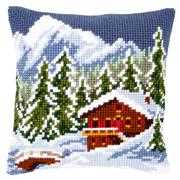 Snow Landscape Cushion - Vervaco Cross Stitch Kit
