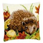 Autumn Hedgehog Cushion - Vervaco Cross Stitch Kit