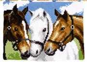 Three Horses Wall Hanging - Vervaco Cross Stitch Kit