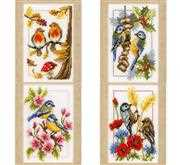 Four Seasons Miniatures (Set of 4) - Vervaco Cross Stitch Kit