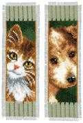Cat and Dog Bookmarks (2) - Vervaco Cross Stitch Kit
