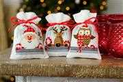 Vervaco Christmas Buddies Bags (Set of 3) Cross Stitch Kit