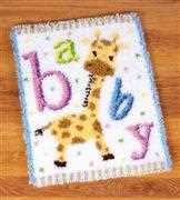 Baby Giraffe Rug - Vervaco Latch Hook Kit