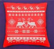 Red Reindeer Cushion Kit - Anette Eriksson Cross Stitch Kit
