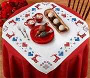 Anette Eriksson Fairisle Stags Border Tablecloth Christmas Cross Stitch Kit