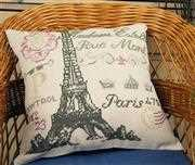 French Postcard Premium Cushion Kit - Anette Eriksson Cross Stitch Kit