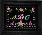 Anette Eriksson ABC on Black Cross Stitch Kit