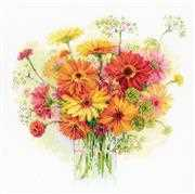 RIOLIS Watercolour Gerberas Cross Stitch Kit