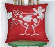 Red Hen Value Cushion Front - Anette Eriksson Cross Stitch Kit