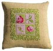 Cottage Chic Value Cushion Front - Anette Eriksson Cross Stitch Kit