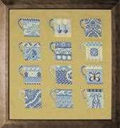 Anette Eriksson Blue Cups Sampler Cross Stitch Kit