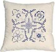 Anette Eriksson Blue Floral Premium Cushion Kit Embroidery