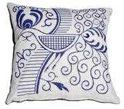 Anette Eriksson Indigo Bird Premium Cushion Kit Embroidery