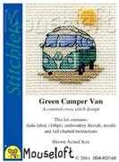 Green Camper Van - Mouseloft Cross Stitch Kit