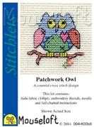 Mouseloft Patchwork Owl Cross Stitch Kit