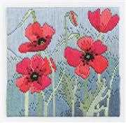 Derwentwater Designs Wild Poppies Long Stitch Kit