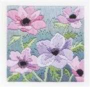 Derwentwater Designs Purple Anemones Long Stitch Kit