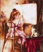 Luca-S Artist and Model Cross Stitch Kit