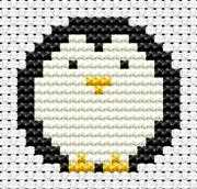 Easy Peasy Penguin - Fat Cat Cross Stitch Kit