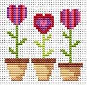 Sew Simple Love Grows - Fat Cat Cross Stitch Kit
