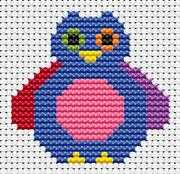Sew Simple Owl - Fat Cat Cross Stitch Kit