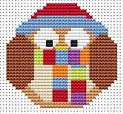 Sew Simple Winter Owl - Fat Cat Cross Stitch Kit