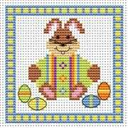 Bunny Green Egg Card - Fat Cat Cross Stitch Kit
