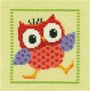 Red Owl - Vervaco Cross Stitch Kit