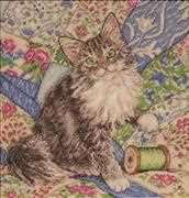 Cat on Quilt - Design Works Crafts Cross Stitch Kit