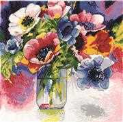 Design Works Crafts Watercolour Anemones Cross Stitch Kit