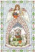 Jim Shore Kitty Angel - Design Works Crafts Cross Stitch Kit
