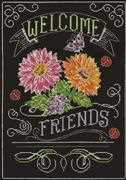 Welcome Friends Chalkboard - Design Works Crafts Cross Stitch Kit