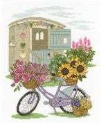Flowery Bicycle - DMC Cross Stitch Kit