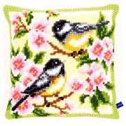 Birds and Blossoms Cushion - Vervaco Cross Stitch Kit