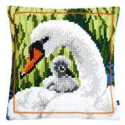 Vervaco Swan and Cygnet Cushion Cross Stitch Kit