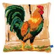 Vervaco Rooster Cushion Cross Stitch Kit