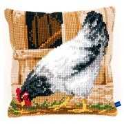 Vervaco Grey Hen Cushion Cross Stitch Kit