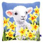 Lamb Cushion - Vervaco Cross Stitch Kit