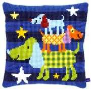 Funny Dogs Cushion - Vervaco Cross Stitch Kit