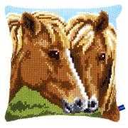 Horses Cushion - Vervaco Cross Stitch Kit
