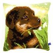 Rottweiler Puppy Cushion - Vervaco Cross Stitch Kit