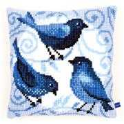 Blue Birds Cushion - Vervaco Cross Stitch Kit